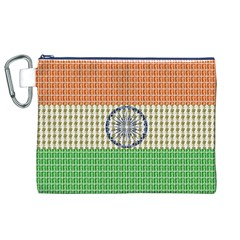 Indian Flag Canvas Cosmetic Bag (XL)