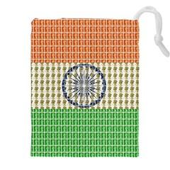Indian Flag Drawstring Pouches (XXL)