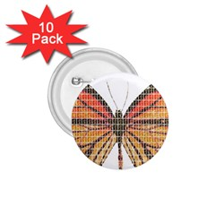 Butterfly 1.75  Buttons (10 pack)