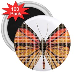 Butterfly 3  Magnets (100 pack)