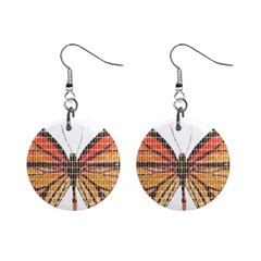 Butterfly Mini Button Earrings