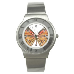 Butterfly Stainless Steel Watch