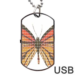 Butterfly Dog Tag USB Flash (Two Sides)