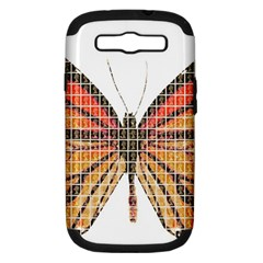 Butterfly Samsung Galaxy S III Hardshell Case (PC+Silicone)