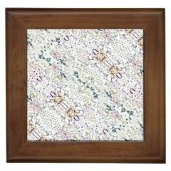 Oriental Floral Ornate Framed Tiles