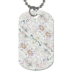 Oriental Floral Ornate Dog Tag (One Side)