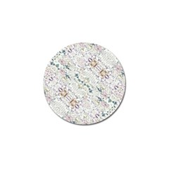 Oriental Floral Ornate Golf Ball Marker