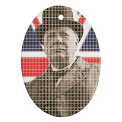 Churchill 1 Oval Ornament (Two Sides)