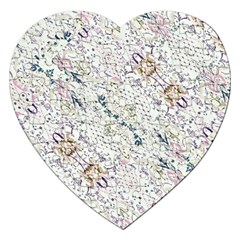 Oriental Floral Ornate Jigsaw Puzzle (Heart)