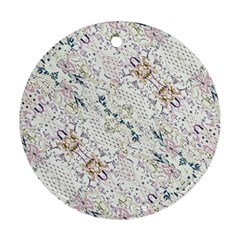 Oriental Floral Ornate Round Ornament (Two Sides)