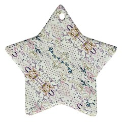 Oriental Floral Ornate Star Ornament (Two Sides)
