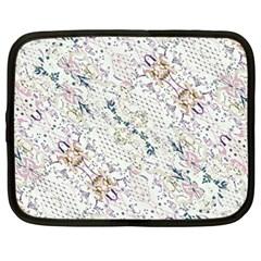 Oriental Floral Ornate Netbook Case (Large)