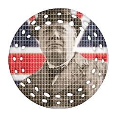 Churchill 1 Round Filigree Ornament (2Side)