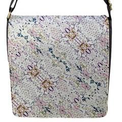 Oriental Floral Ornate Flap Messenger Bag (S)