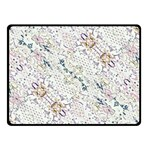 Oriental Floral Ornate Double Sided Fleece Blanket (Small)  50 x40 Blanket Front