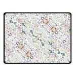 Oriental Floral Ornate Double Sided Fleece Blanket (Small)  45 x34 Blanket Back