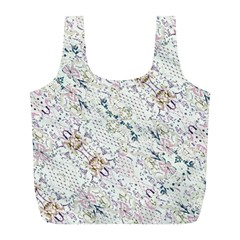 Oriental Floral Ornate Full Print Recycle Bags (L)