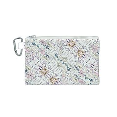 Oriental Floral Ornate Canvas Cosmetic Bag (S)