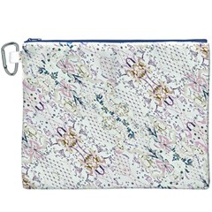 Oriental Floral Ornate Canvas Cosmetic Bag (XXXL)