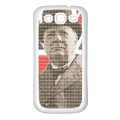 Winston Churchill Samsung Galaxy S3 Back Case (White)