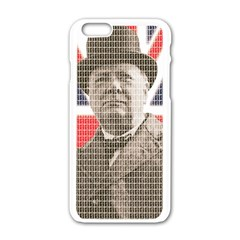 Winston Churchill Apple iPhone 6/6S White Enamel Case
