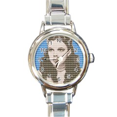 Over The Rainbow - Blue Round Italian Charm Watch