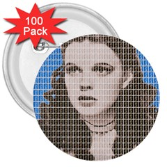Over The Rainbow - Blue 3  Buttons (100 pack)