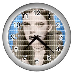 Over The Rainbow - Blue Wall Clocks (Silver)