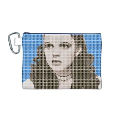 Over The Rainbow - Blue Canvas Cosmetic Bag (M)