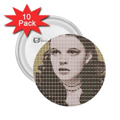 Over The Rainbow - Gold 2.25  Buttons (10 pack)