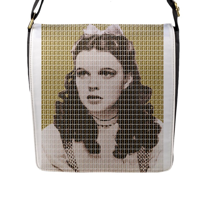 Over The Rainbow - Gold Flap Messenger Bag (L)