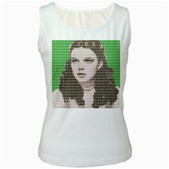 Over the rainbow - Green Women s White Tank Top