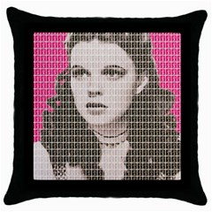 Over The Rainbow   Pink Throw Pillow Case (black)