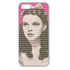 Over the Rainbow - Pink Apple Seamless iPhone 5 Case (Clear)
