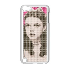 Over the Rainbow - Pink Apple iPod Touch 5 Case (White)
