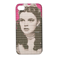 Over the Rainbow - Pink Apple iPhone 4/4S Hardshell Case with Stand