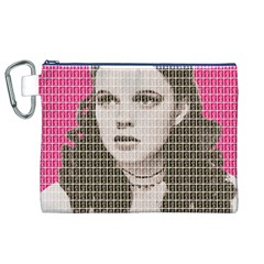 Over the Rainbow - Pink Canvas Cosmetic Bag (XL)