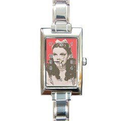 Over the Rainbow - Red Rectangle Italian Charm Watch