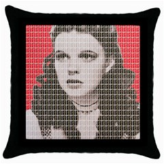 Over The Rainbow   Red Throw Pillow Case (black)