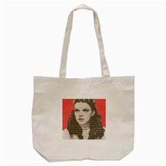 Over The Rainbow   Red Tote Bag (cream)