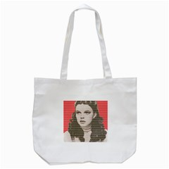 Over the Rainbow - Red Tote Bag (White)