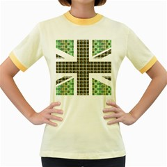 Green Flag Women s Fitted Ringer T Shirts
