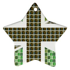 Green Flag Star Ornament (Two Sides)