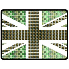 Green Flag Double Sided Fleece Blanket (large)
