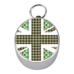 Green Flag Mini Silver Compasses