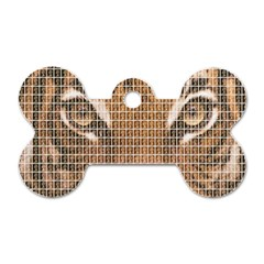 Tiger Tiger Dog Tag Bone (Two Sides)