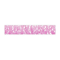 Pink Ombre Feather Pattern, White, Flano Scarf (Mini)