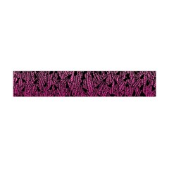 Pink Ombre Feather Pattern, Black, Flano Scarf (mini)