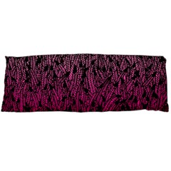 Pink Ombre Feather Pattern, Black, Body Pillow Case Dakimakura (two Sides)