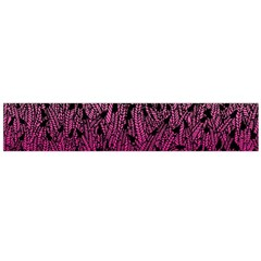 Pink Ombre Feather Pattern, Black, Flano Scarf (large)